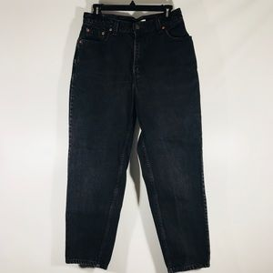 Denim - Levi's women's black 550 red tab jeans
